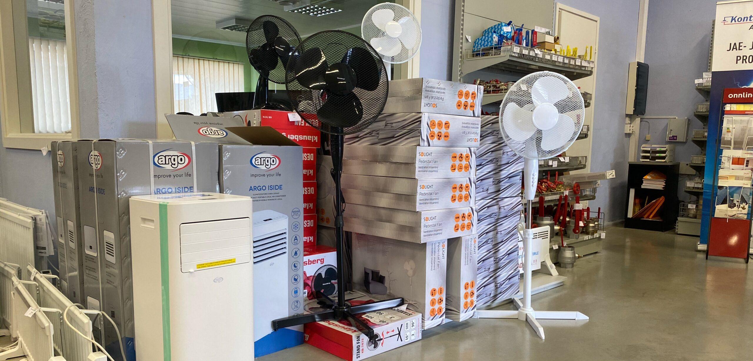 ventilaatorid ja konditsioneerid